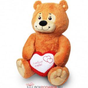 Мягкая игрушка Мишка с сердцем 80 см 14161 Леком