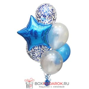 Гелиевые шары композиция № 1 (синяя)