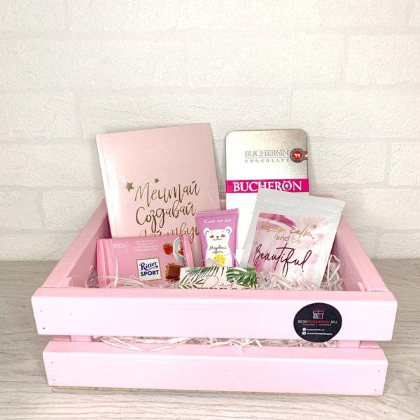 Подарочный бокс «Для ценителей розового» 1
