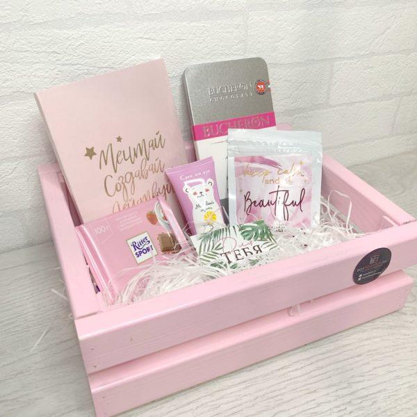 Подарочный бокс «Для ценителей розового» 3